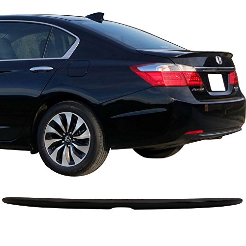 Pre-Painted Trunk Spoiler Fits 2013-2016 Honda Accord | Painted #NH731P Crystal Black Pearl Factory Style Rear Spoiler Wing by IKON MOTORSPORTS | 2014 2015