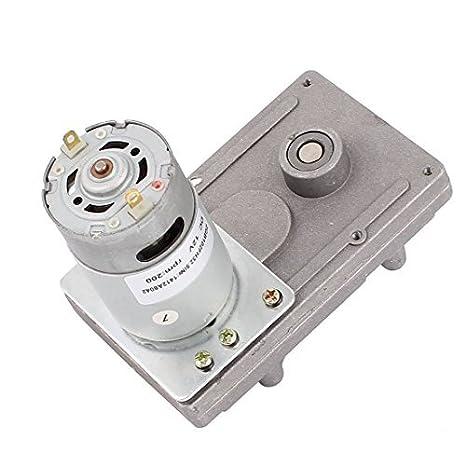 DealMux DC12V 200RPM High Torque Elétrica DC Worm Gear Box Motor redutor de velocidade - - Amazon.com
