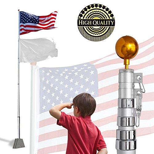 GC Global Direct American Flag Telescoping Pole W US Flag (16FT)