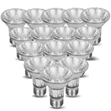 Par 20 15 Pack FL25 50PAR20/FL 50 Watt Halogen Spot Light Bulb Replacement 120V 130V Edison Base Flood Beam Lighting Range Hood Oven PAR20 Reflector Excel Holgen Hologen Bulbs DL Kitchen Bathroom