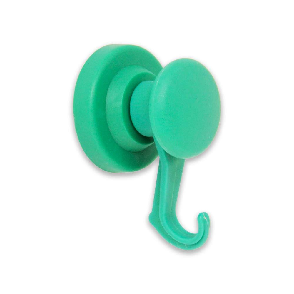 Magnet Expert NPT43R(G)-40 43mm Dia Rubber Coated Neodymium Swivel Hook - Green (Pack of 40)
