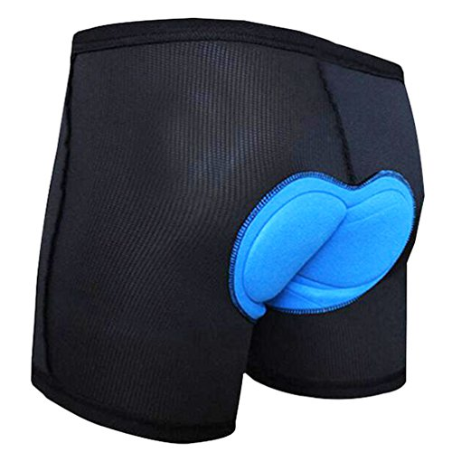 Voofly Men's 3D Padded Cycling Underwear Bicycle Underpants Lightweight Bike Shorts Black X-Large