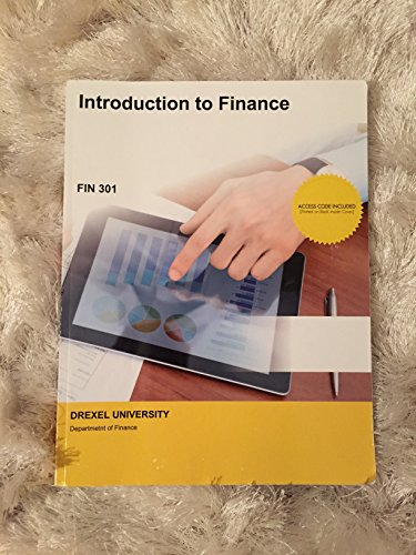 Fin 301: Introduction to Finance