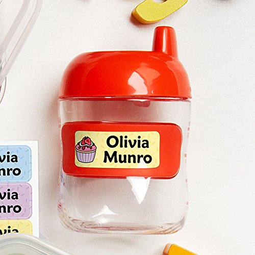 Original Personalized Peel and Stick Waterproof Custom Name Tag Labels for Adults, Kids, Toddlers, and Babies – Use for Office, School, or Daycare (Dinosaurs Theme) by Oliver's Labels (Image #2)