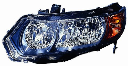 Depo 317-1148L-UC2 Honda Civic Driver Side Replacement Headlight Unit without (Honda Civic Headlight Lh Driver)