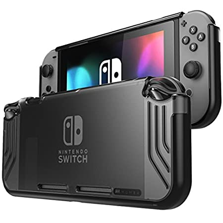 Mumba Nintendo Switch case, [Slimfit Series] Premium Slim Clear Hybrid Protective Case for Nintendo Switch 2017 release (Clear/Black)