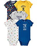 Carter's Baby Boys 5 Pack Bodysuit Set, Food, 3 Months