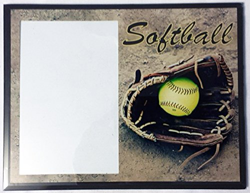 Amazon.com : Glass Softball Themed Picture Frame : Baby