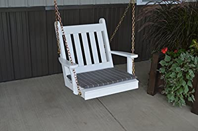 2 Ft Yellow Pine Unfinished Outdoor Traditional English Chair Swing Amish Made USA