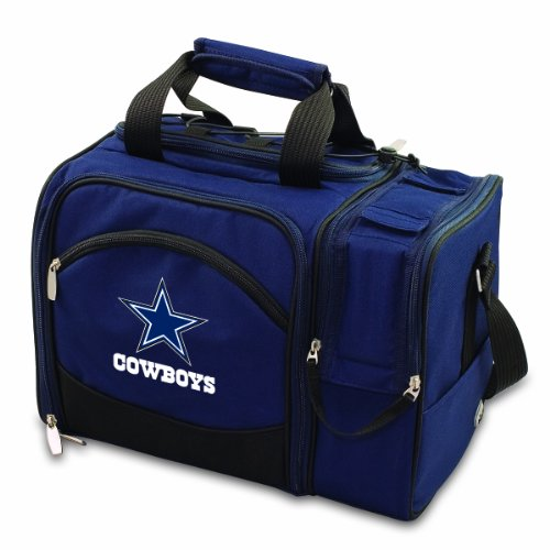- PICNIC TIME NFL Dallas Cowboys Malibu Insulated Shoulder Pack with Deluxe Picnic Service for Two