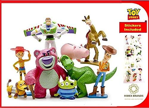 HIMEX BRANDS 9X Toy Story Figure Play Set Woody Buss Light Year Jessie Rex Bulls Eye Lotso Hamm Little Green Men Mr Potato