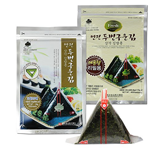 Rom Kit (ROM AMERICA [ Starter Kits + Refill ] Onigiri Nori Rice Ball Triangle Sushi (20 Sheets with Mold + 40 Sheets) Seaweed Wrappers)