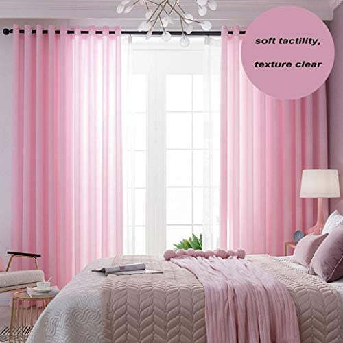 ILMF Semi-Sheer Voile Window Curtain