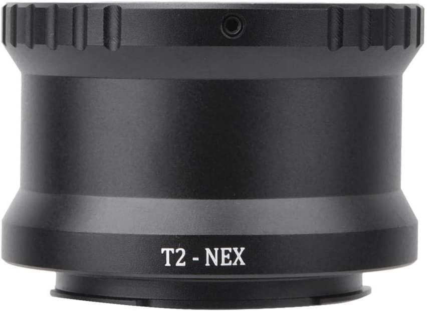 Bewinner Camera Lens Adapters,Metal Manual Focus Telephoto Lens Adapter Ring for T2//T Mount Lens to Fit for Sony NEX E Mount Camera,Lightweight and Portable,Useful Accessory for Photography Lovers