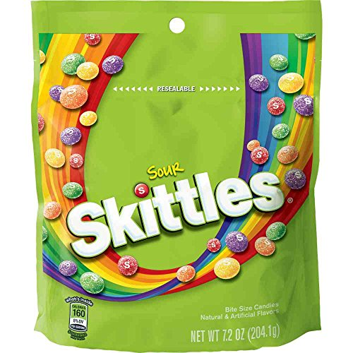Skittles Sour Bite Size Candy, 7.2 Ounce -- 8 per case.