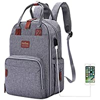 Diaper Bag Backpack, Multifunction Travel Back Pack Maternity Baby Nappy Changing Bags, Large Capacity, Waterproof and…