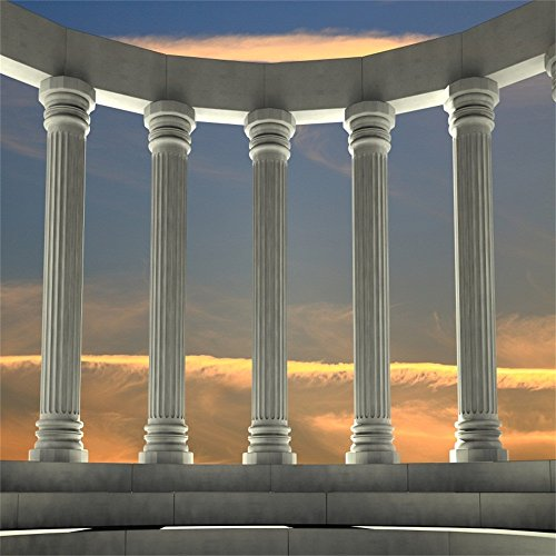 Greek Column Decorations (OFILA Ancient Greek Backdrop 8x8ft Marble Pillars Photography Background Roman Empire Architecture Civilisation Culture Ancient Ruins Temple Historical Building Archaeological Research Shoots)