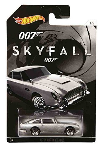 Hot Wheels, 2015 Exclusive James Bond 007, Skyfall 1963 Aston Martin DB5 Silver 4/5 Corgi James Bond Aston Martin