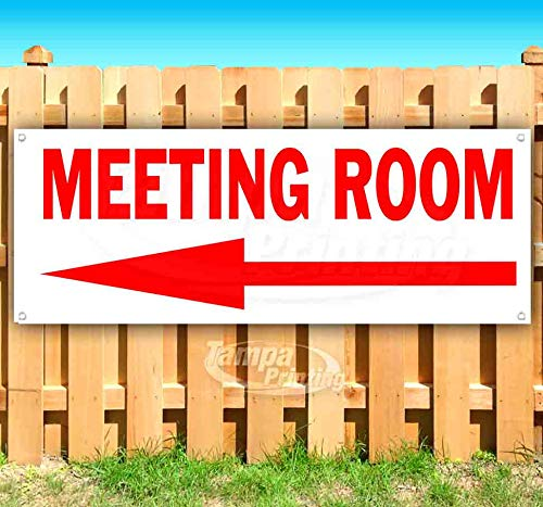 Store Many Sizes Available New Advertising Meeting Room 13 oz Heavy Duty Vinyl Banner Sign with Metal Grommets Flag,