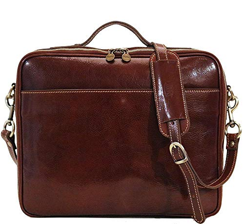 Milano Leather Laptop Case Briefcase Bag