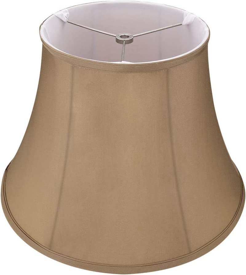 Royal Style Medium Lamp Shades, Alucset Fabric Lampshades for Table Lamp and Floor Light, 8x14x9 Inch, Natural Linen Hand Crafted, Spider (Brown)