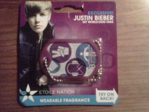 EXCLUSIVE Justin Bieber MY WORLD WEARABLE FRAGRANCE DOG TAGS - ICON STYLE! (Bieber Bear Justin)