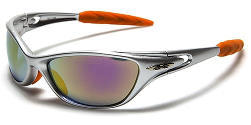 X-Loop Sonnenbrillen - Sport - Radfahren - Skifahren - Laufen - Driving - Motorradfahrer / Mod. 1170 Grau Orange / One Size Adult / 100% UV400 Schutz