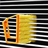 window blind cleaner - Lazynice Mini-Blind Cleaner Shutters- Window Blind Brush Cleaning, Air Conditioner Duster Remover, Dust Cleaner with 7pcs Washable Blind Blade Cleaning Cloth For Household Office Cleaning