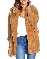 ZESICA Women's Open Front Fuzzy Fleece...