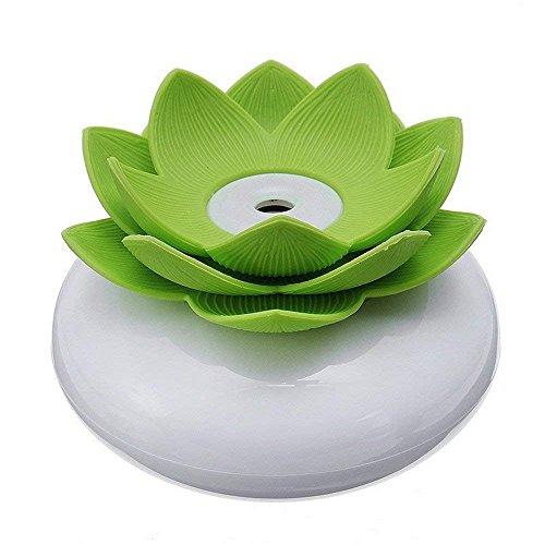 Lotus Office (CLKjdz Mini Humidifier USB Office Lotus Shape Air Humidifier Light Mini USB Home Air Humidifier Negative lon Air Purifier (Green))
