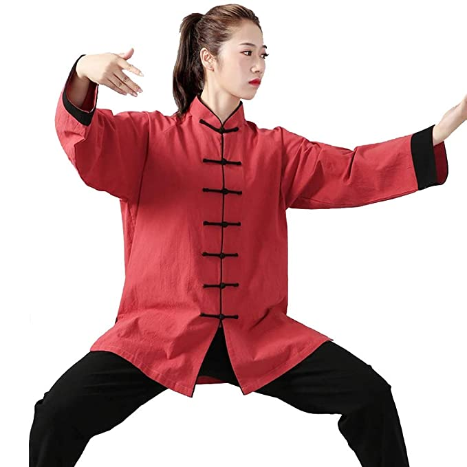 Amazon.com : ZHL&M Tai Chi Uniform Unisex Martial Arts Kung ...