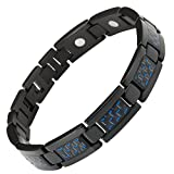 Best Willis Judd Jewelry Boxes - Willis Judd Mens Black Titanium Magnetic Bracelet With Review