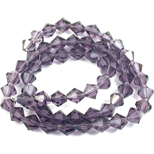 - Amethyst Bicone FP Chinese Crystal Beads 6mm 1 Strand