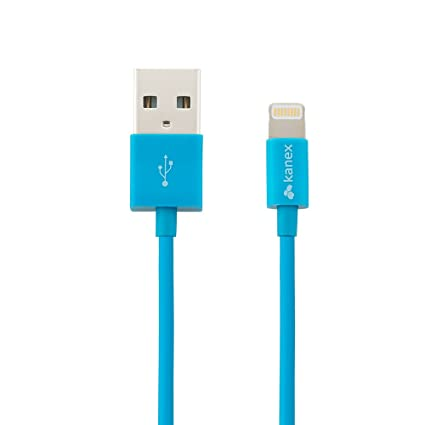 Kanex Apple Certified Lightning to USB Cable with SureFit Connector 4 feet (1.2 M) Blue