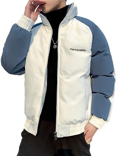 Chaqueta de plumón de algodón para Hombre, Informal, Gruesa, cálida, para Hombre: Amazon.es: Ropa y accesorios