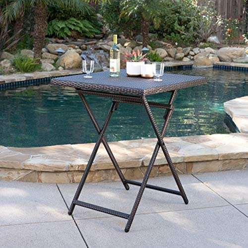 Marinelli Outdoor Multibrown Wicker Bar Table by Christopher Knight Home (Image #1)