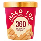 Halo Top, Peanut Butter & Jelly Ice Cream, Pint (4 Count)