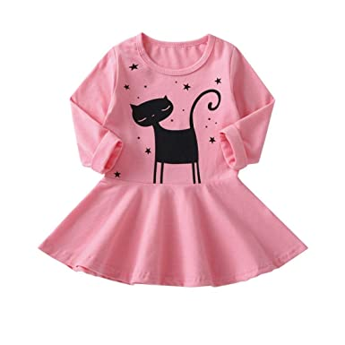 24734e1b16704 Amazon.com: Moonker Girls Princess Dress 1-5 Years Old, Toddler Baby ...