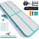 Happybuy 10ft/13ft/17ft/20ft/23ft/26ft/33ft Air Track 4 inches Thick Tumbling Mat Inflatable Gymnastics Airtrack for Home/Cheerleading/Yoga/Parkour/Water with Pump