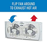 Holmes Window Fan with Twin 6-Inch Reversible