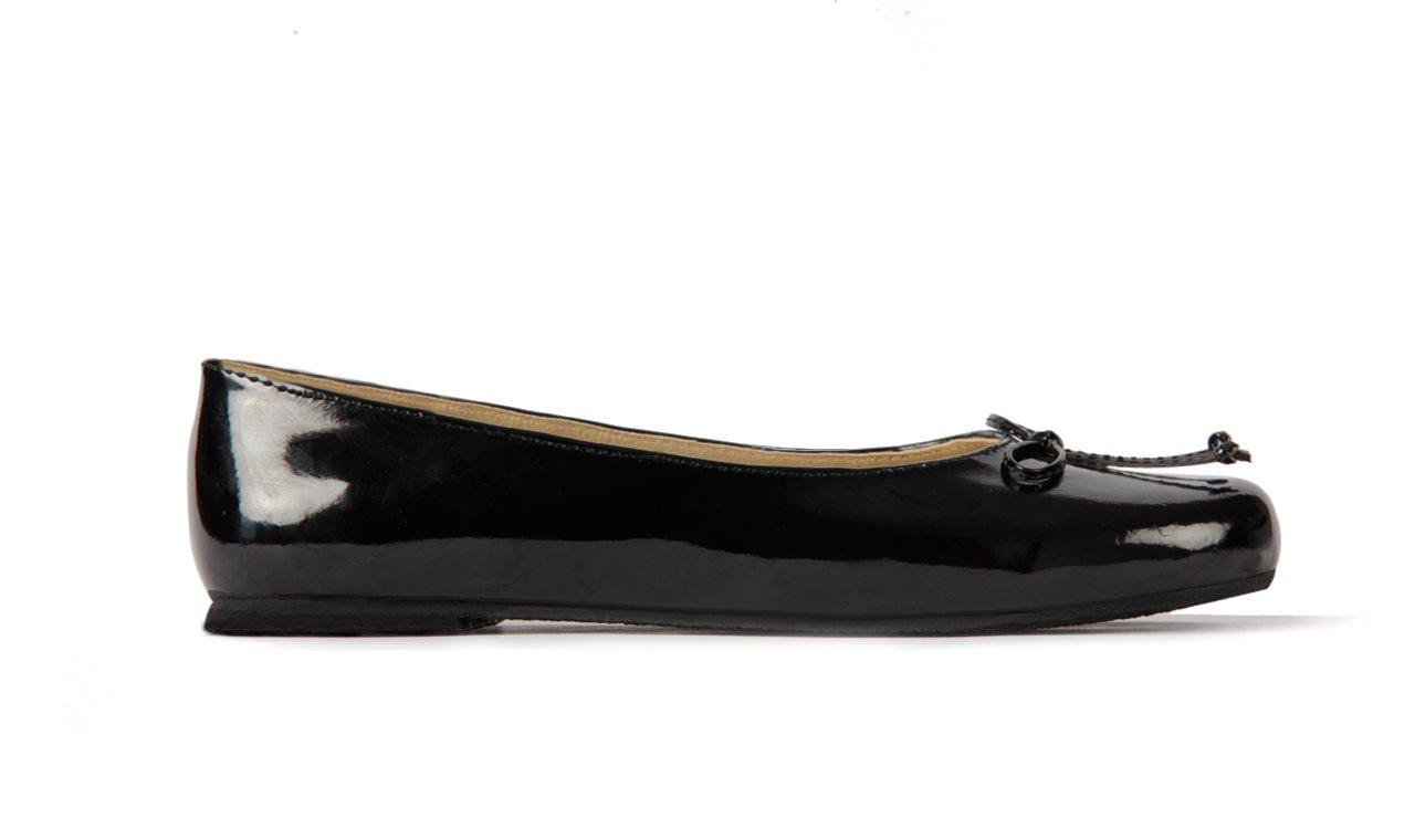 Subibaja Mia - Mommy & Me Shoes, Classic Ballet Flats for Women B07DHFWRJN 4 B(M) US|Black Patent