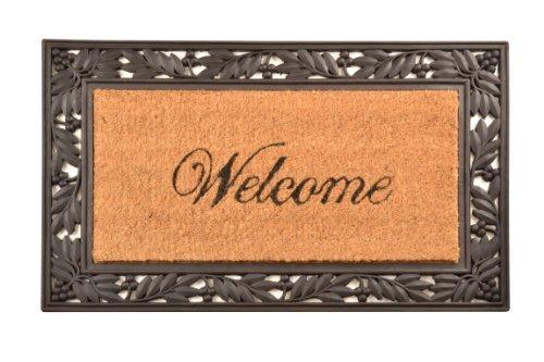 Home Trax Designs C04S1830WL Welcome Cocoa Door Mat, 18 x 30 by Home Trax Designs by HomeTrax Designs