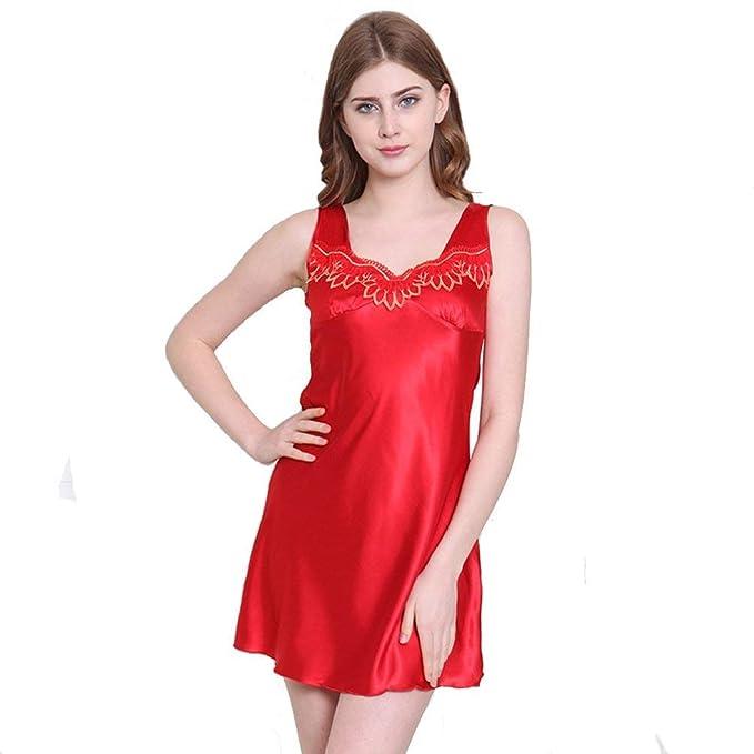 miglior sito web f3f55 c89c7 Camicia da Donna Senza Maniche Chemise Slip Camicia Notte da ...