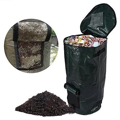 Aufbewahren & Ordnen Homyl Premium Selbststehend und Faltbar Laubsäcke Gartenabfallsack Gartensäcke Gartenabfallsäcke aus Plastik 60 Liter