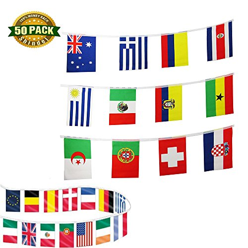 Grand Bar (Shindel International Country String Flags 50 Country Flag Pennants for Grand Opening,Olympics,Bar Party Events Decorations)