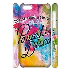 LSQDIY(R) Panic! At The Disco iPhone 5C 3D Plastic Case, Personalised iPhone 5C 3D Case Panic! At The Disco