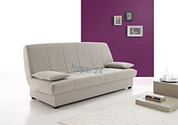 Sofa Cama Clic CLAC con ARCÓN DE ALMACENAJE Gris: Amazon.es: Hogar