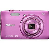 Nikon COOLPIX S3600 20.1 MP Digital Camera with 8x Zoom NIKKOR Lens and 720p HD Video (Pink) (Certified Refurbished) Overview Review Image