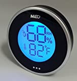 Round Digital Thermometer Hygrometer with Min/Max Memory for Appliance Humidify Accessory