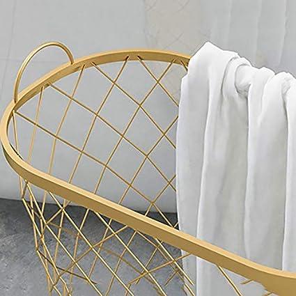MKOPLBNZA Panier De Rangement pour Jouets M/énagers Couleur : Blanc Panier /À Linge//Panier//Design en Fer Forg/é